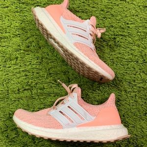 Adidas Ultra Boost Peachy Pink Shoes Size 5.5